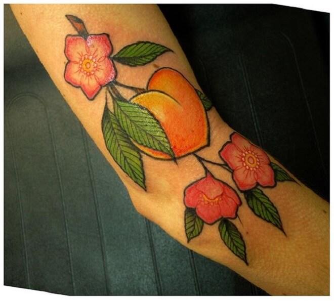 Flower Peach Tattoo