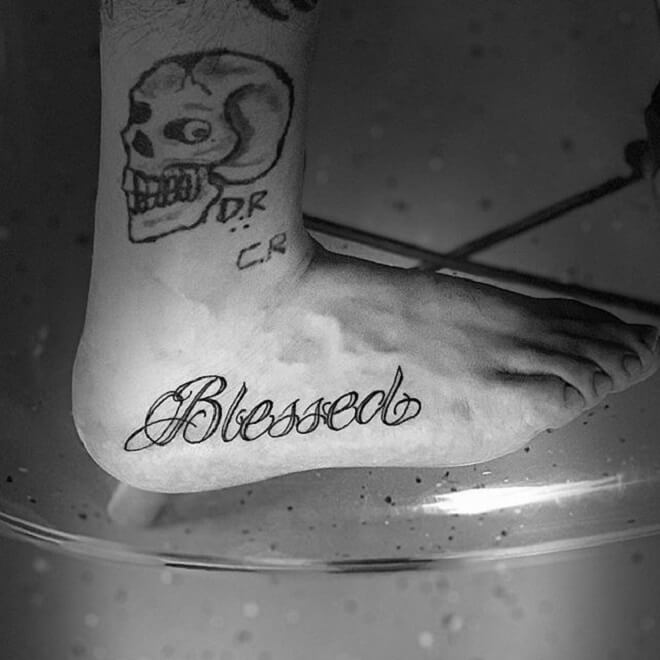 Foot Blessed Tattoo
