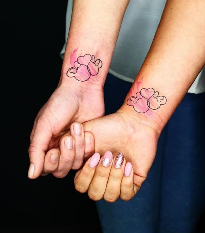 Friends Minnie Mouse Tattoo