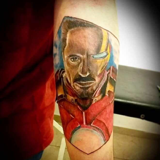 Full Color Ironman Tattoo