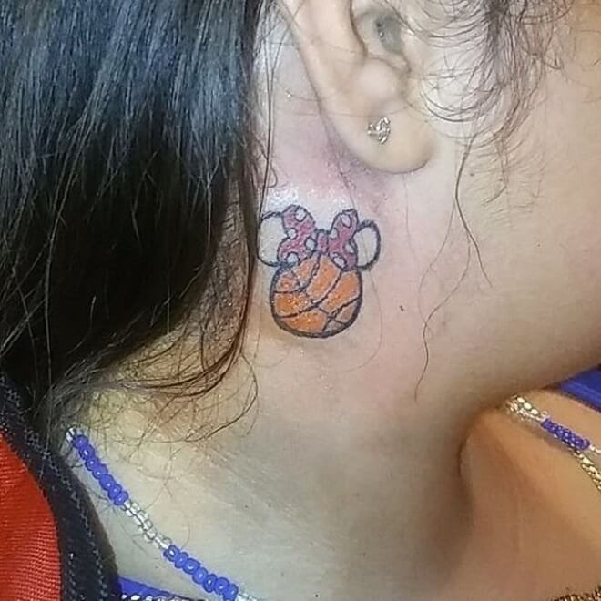 Girl Basketball Tattoo