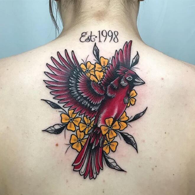 Girl Cardinal Tattoo