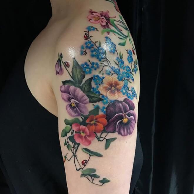 Girl Forget Me Not Tattoo