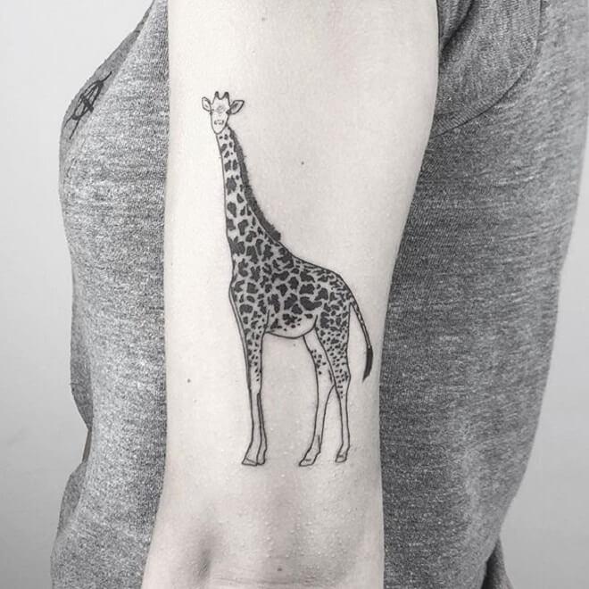 Girl Giraffe Tattoo