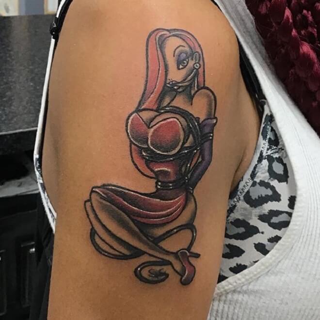 Girl Jessica Rabbit Tattoo