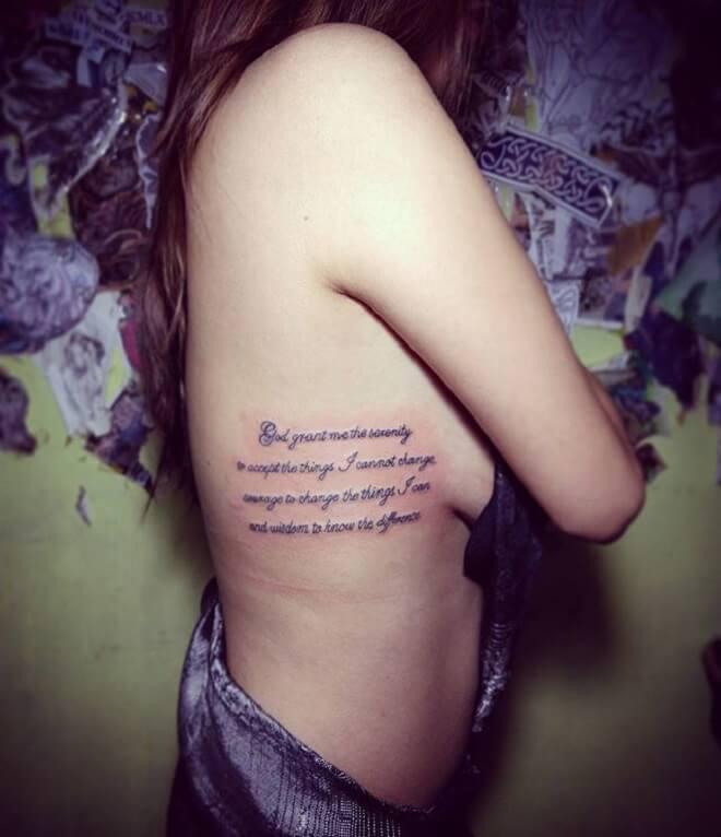 Girl Serenity Prayer Tattoo