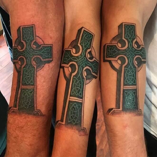 Hand Celtic Cross Tattoo
