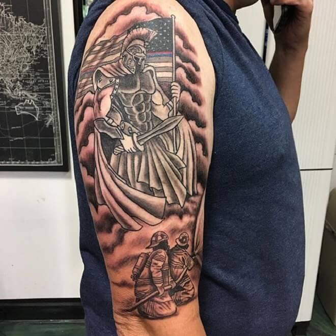 Hand Firefighter Tattoo