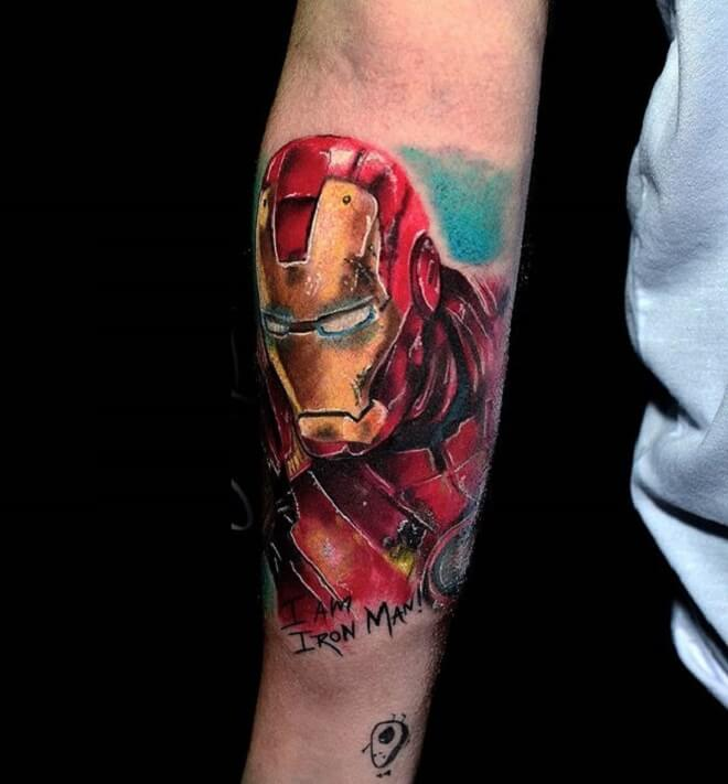 Hand Ironman Tattoo