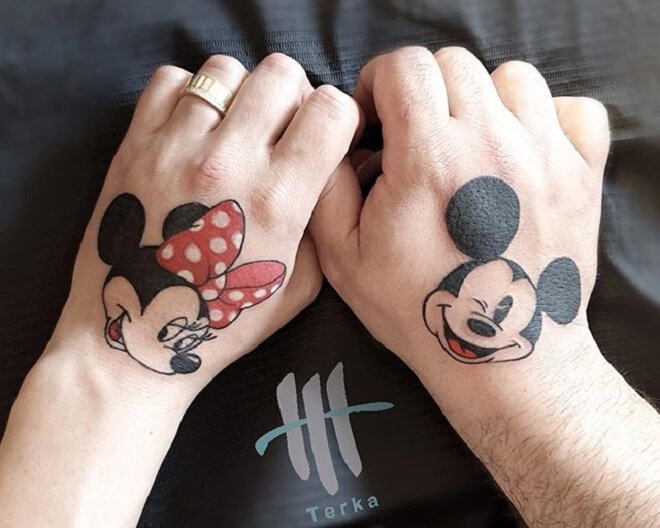 Hand Minnie Mouse Tattoo