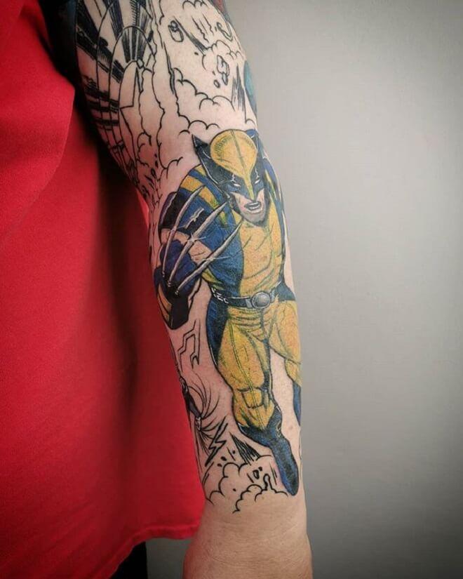 Hand Wolverine Tattoo