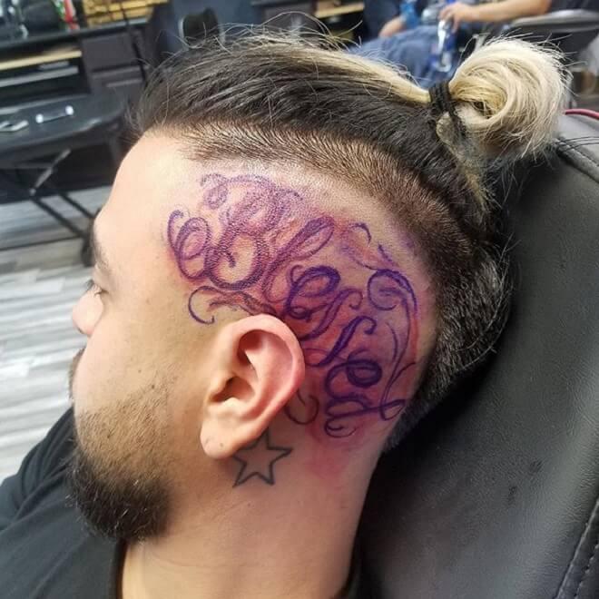 Head Blessed Tattoo
