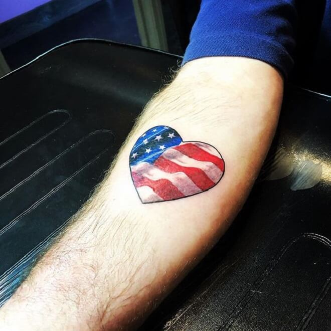 Heart Patriotic Tattoos