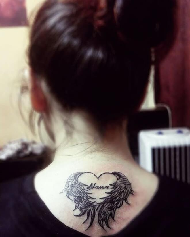 Heart with Wings Tattoo Style