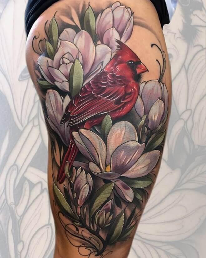 Hip Cardinal Tattoo