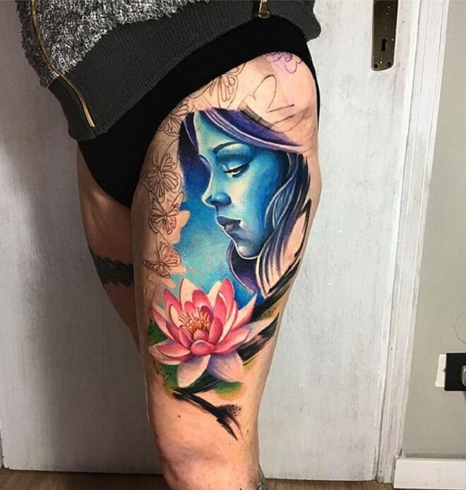 Hip Fairy Tattoo