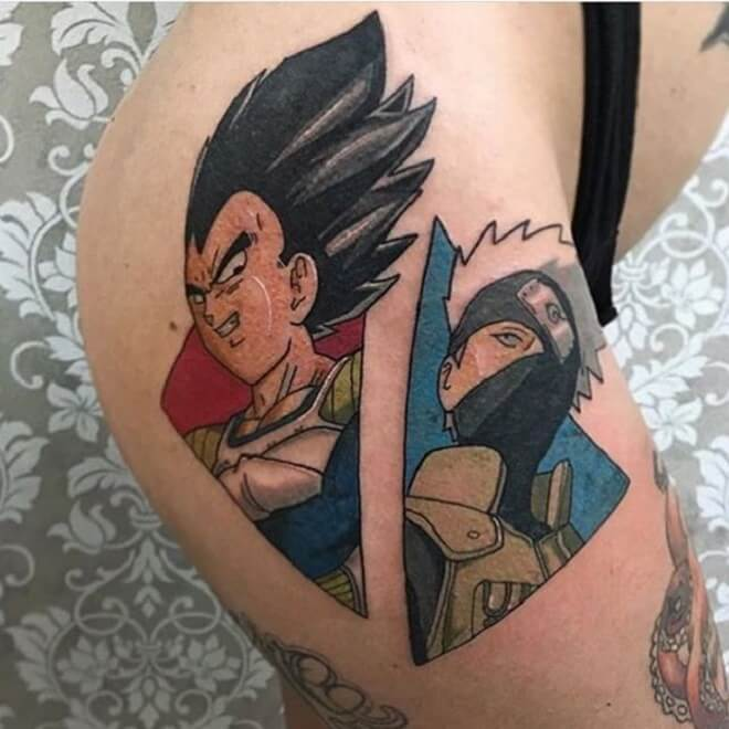 Hip Vegeta Tattoo