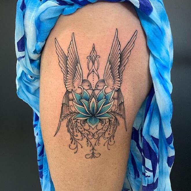 Hip Vine Tattoo