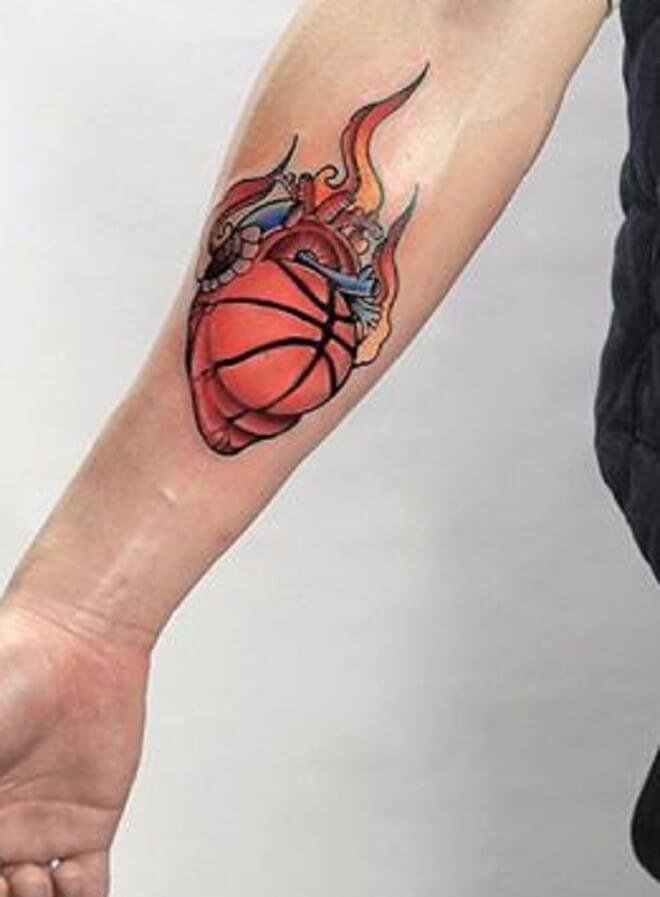 Hot Basketball Tattoo