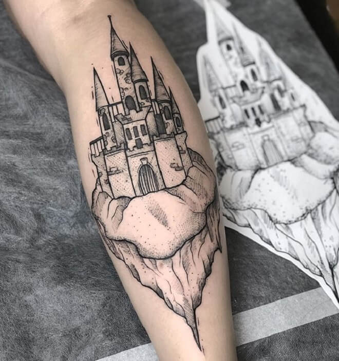 Incredible Castle Tattoo