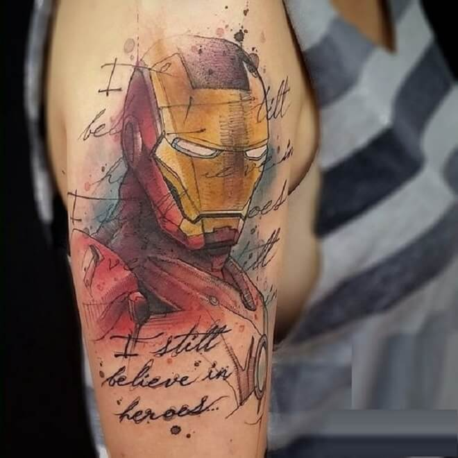 Ironman Tattoo Art