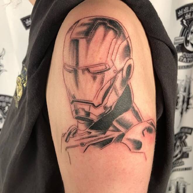 Ironman Tattoo for Men