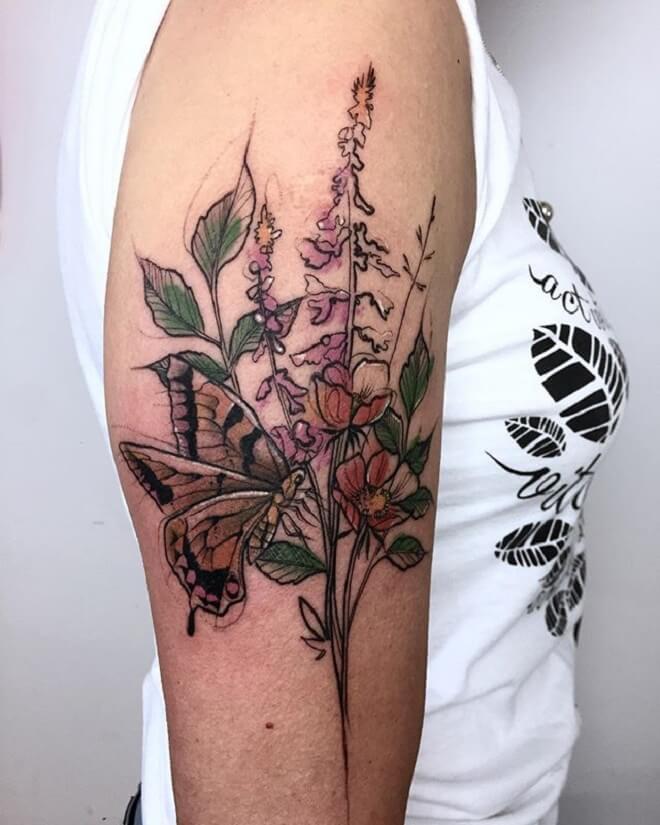 Lady Poppy Tattoo