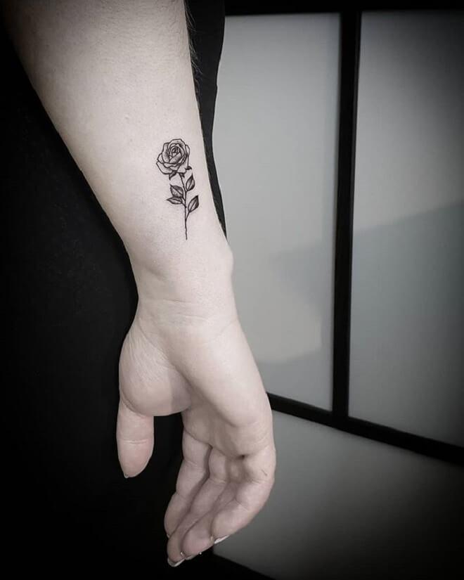 Lady Small Flower Tattoo