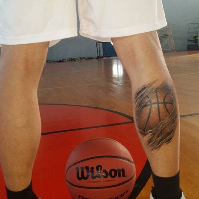 Leg Basketball Tattoo