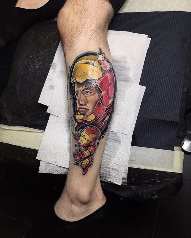 Leg Ironman Tattoo