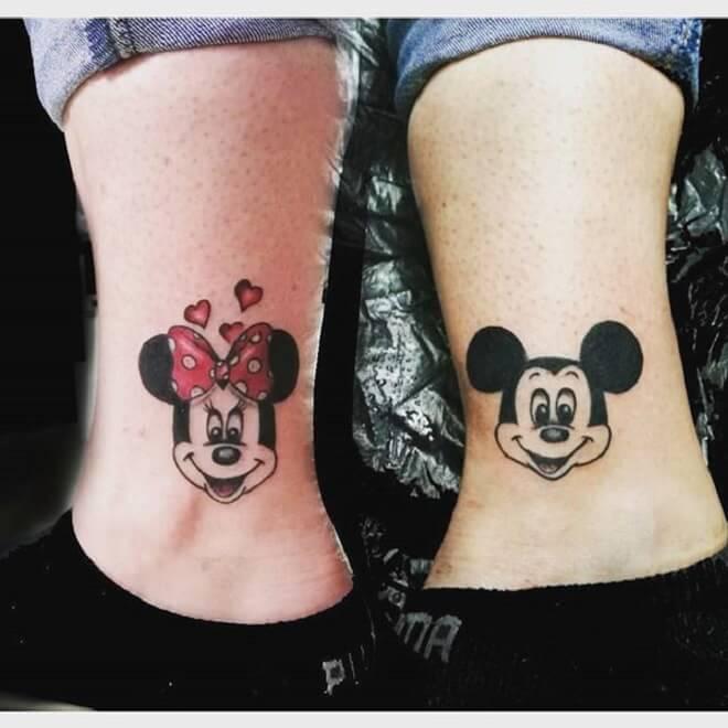 Leg Minnie Mouse Tattoo