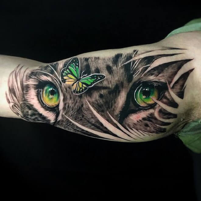 Leopard Eye Tattoo