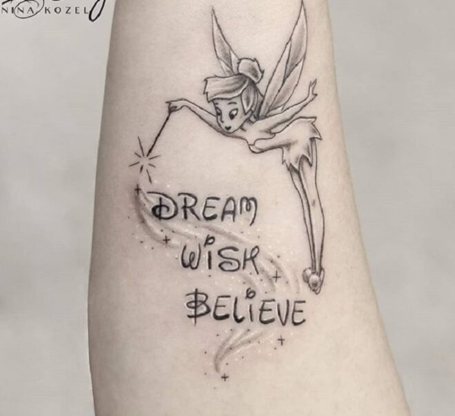 Letters Fairy Tattoo