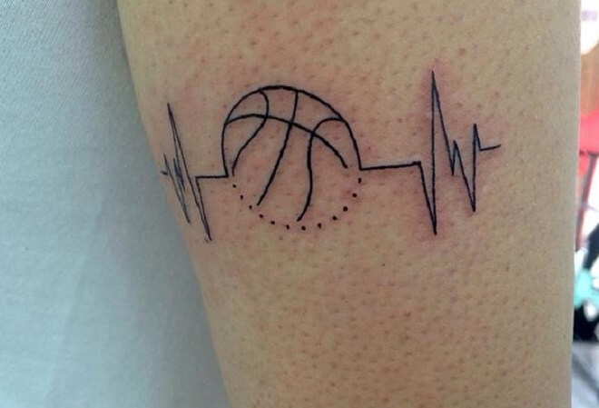 Line Basketball Tattoo