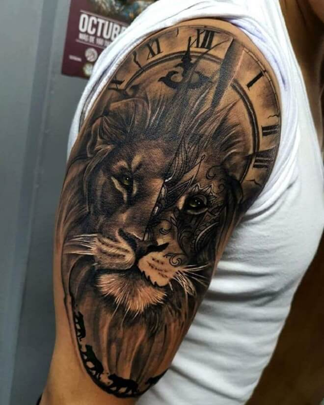 Lion Tattoo for Men