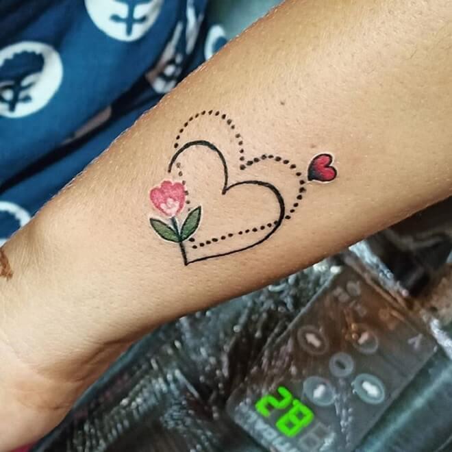 Love Small Flower Tattoo