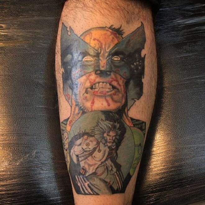 Marvel Wolverine Tattoo