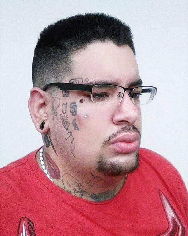 Men Face Tattoo