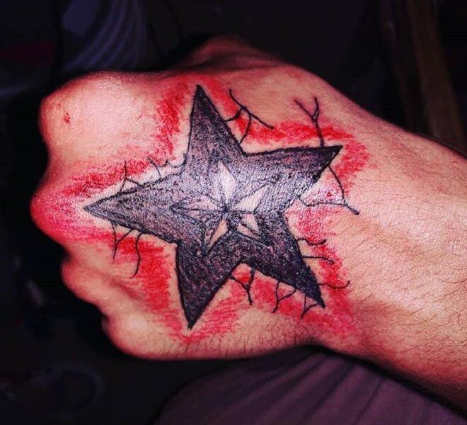 Men Hand Tattoo
