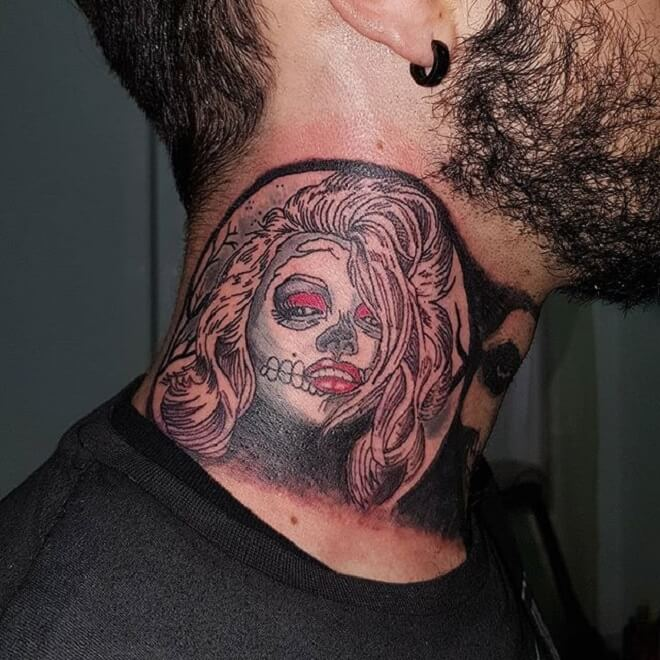 Men Neck Tattoo