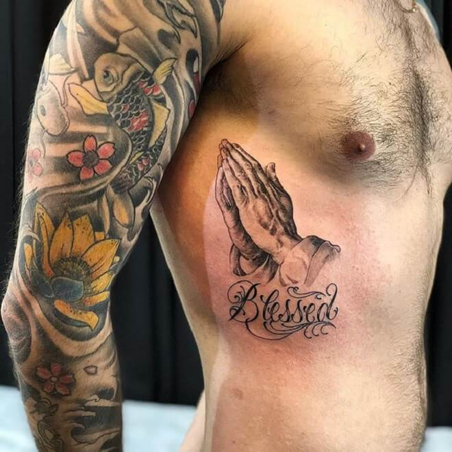 Men Style Blessed Tattoo