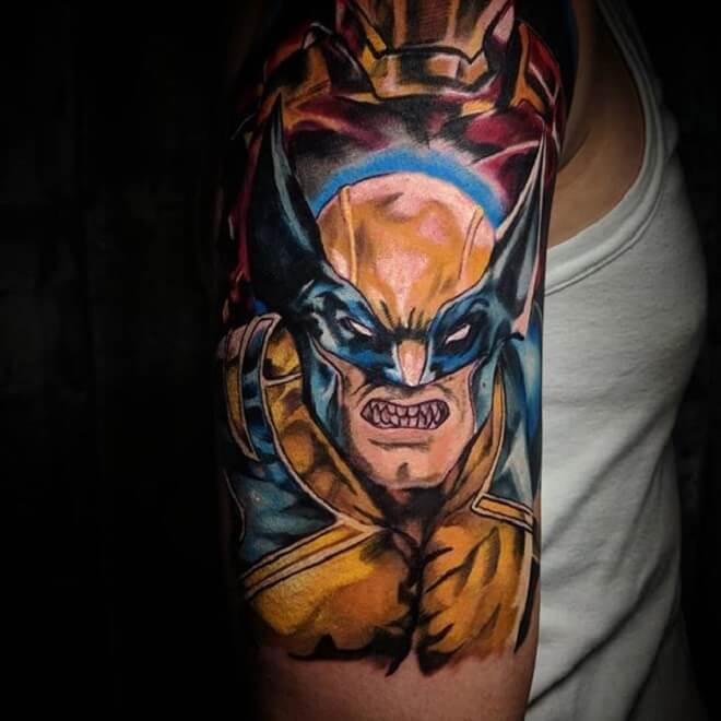 Men Wolverine Tattoo