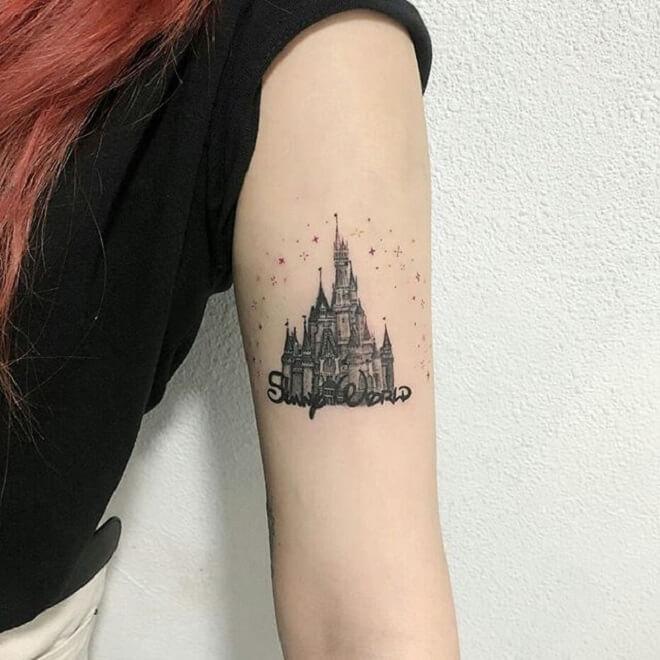 Mini Castle Tattoo