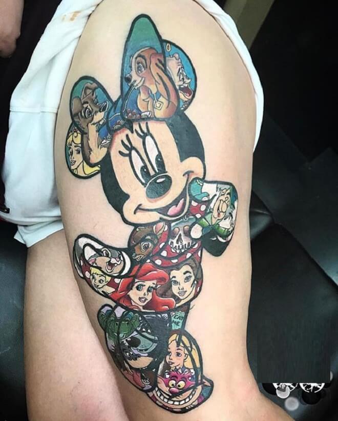 Minnie Mouse Tattoo Art