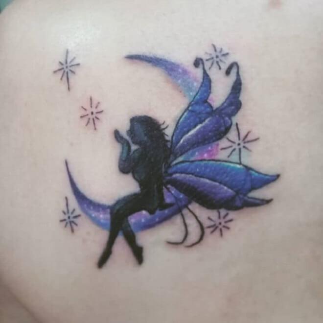 Moon Fairy Tattoo