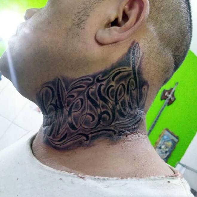 Neck Blessed Tattoo