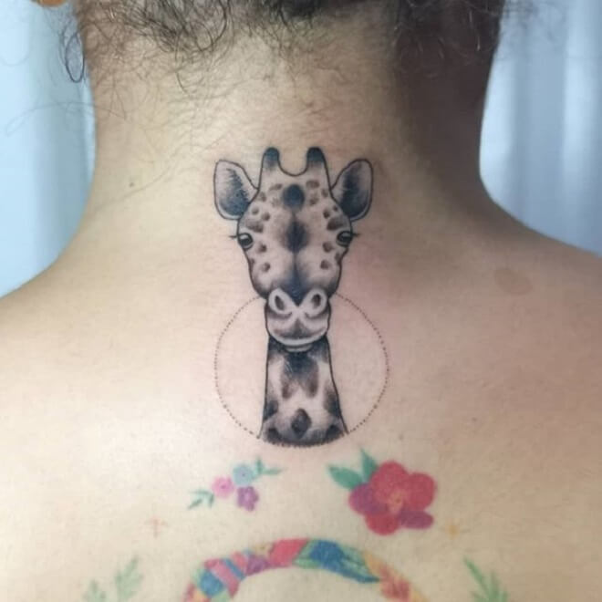 Neck Giraffe Tattoo