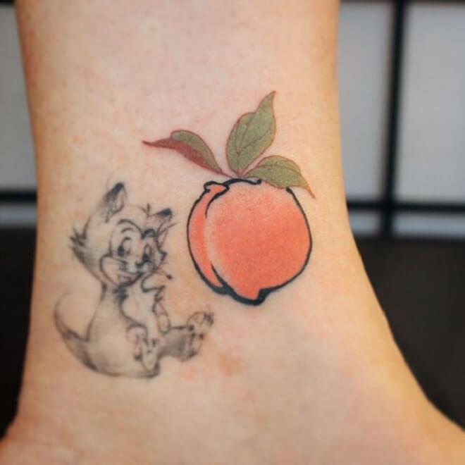 Peach Japanese Tattoo