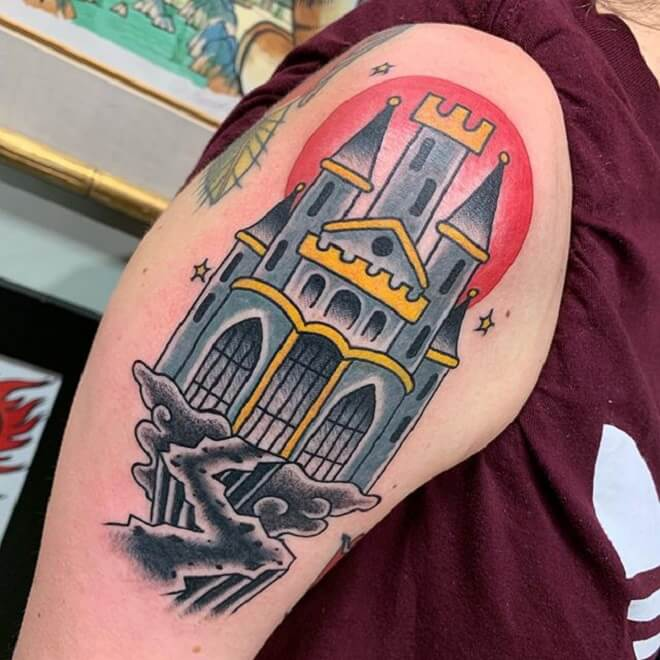 Perfect Castle Tattoo