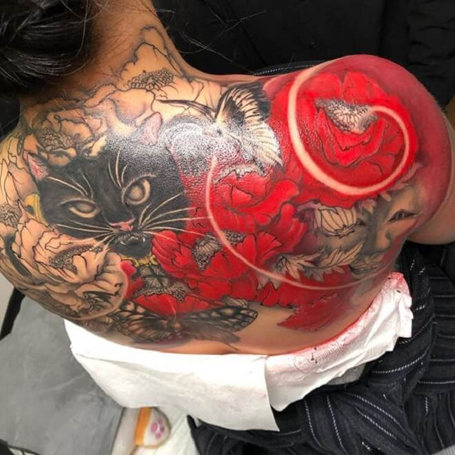 Poppy Cat Tattoo